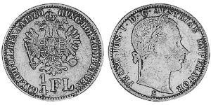 1/4 Florin Austrian Empire (1804-1867) Silver