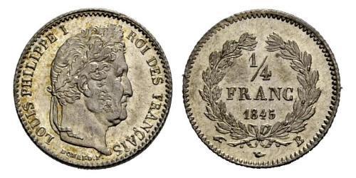 1/4 Franc Monarchia di Luglio (1830-1848) Argento Luigi Filippo di Francia (1773 -1850)