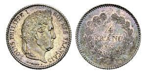 1/4 Franc Julimonarchie (1830-1848) Silber Louis-Philippe I (1773 -1850)