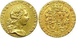 1/4 Guinea 大不列顛王國 (1707 - 1800) 金 喬治三世 (1738-1820)