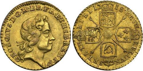 1/4 Guinea Royaume-Uni / Royaume de Grande-Bretagne (1707-1801) Or George I (1660-1727)