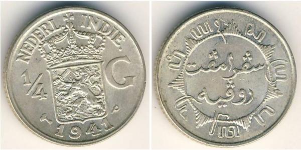 1/4 Gulden  Silver