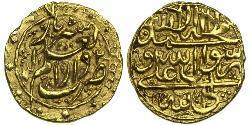 1/4 Mohur Dinastia Zand (1750-1794) / Iran Oro Karim Khan Zand (1705- 1779)