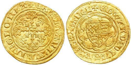 1/4 Noble 英格兰王国 金 爱德华三世 (英格兰) (1312-1377)