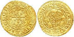 1/4 Noble Königreich England (927-1649,1660-1707) Gold Eduard III (1312-1377)