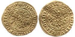 1/4 Noble Kingdom of England (927-1649,1660-1707) Gold Edward III (1312-1377)