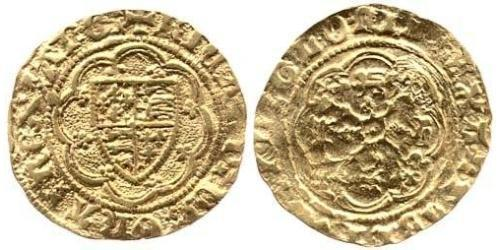 1/4 Noble Kingdom of England (927-1649,1660-1707) Gold Richard II (1367-1400)