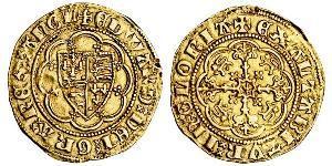 1/4 Noble Reino de Inglaterra (927-1649,1660-1707) Oro Eduardo III (1312-1377)