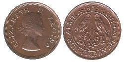 1/4 Penny South Africa Bronze Elizabeth II (1926-)