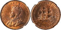 1/4 Penny South Africa Bronze George V of the United Kingdom (1865-1936)
