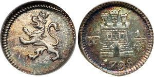 1/4 Real 新格拉納達總督轄區 (1717 - 1819) 銀