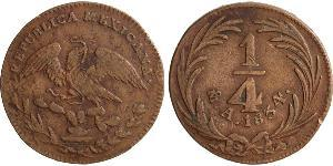 1/4 Real Second Federal Republic of Mexico (1846 - 1863) 銅