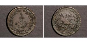 1/4 Real Estados Unidos Mexicanos (1846 - 1863) Cobre