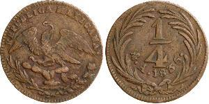 1/4 Real Second Federal Republic of Mexico (1846 - 1863) Copper