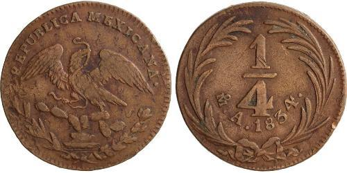 1/4 Real Second Federal Republic of Mexico (1846 - 1863) Rame