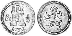 1/4 Real Vizekönigreich Neuspanien (1519 - 1821) Silber