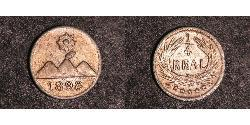 1/4 Real Guatemala Silver