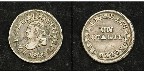 1/4 Real / 1 Quarto Ecuador 銀