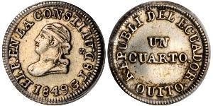 1/4 Real / 1 Quarto Ecuador Argento