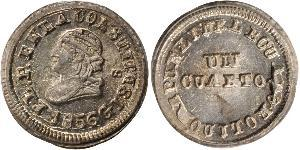 1/4 Real / 1 Quarto Ecuador Silber