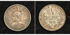 1/4 Rupee German East Africa (1885-1919) 銀