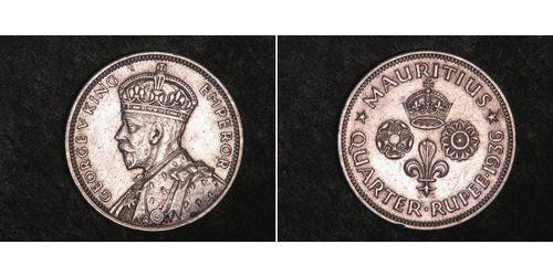 1/4 Rupee Mauritius 銀