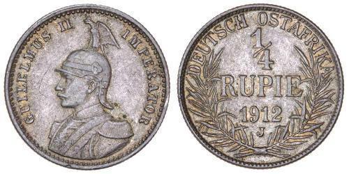 1/4 Rupee Afrique orientale allemande (1885-1919) Argent
