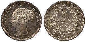 1/4 Rupee Raj britannique (1858-1947) Argent Victoria (1819 - 1901)