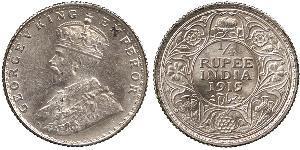 1/4 Rupee Raj britannique (1858-1947) Argent George V (1865-1936)