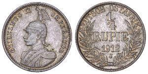1/4 Rupee Africa Orientale Tedesca (1885-1919) Argento