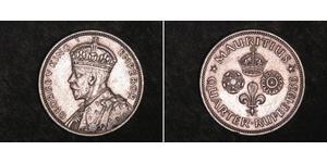 1/4 Rupee Mauritius Argento