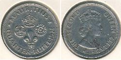 1/4 Rupee Mauritius Copper/Nickel