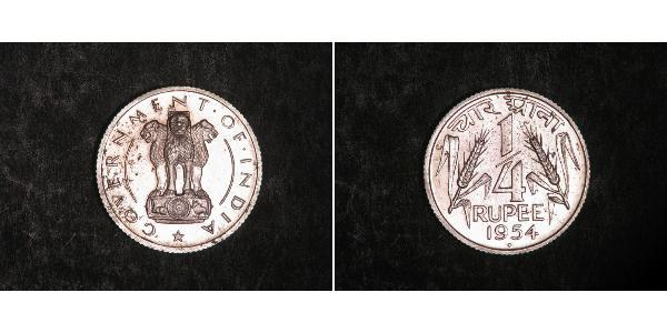 1/4 Rupee India (1950 - ) Nickel