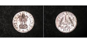 1/4 Rupee Indien (1950 - ) Nickel