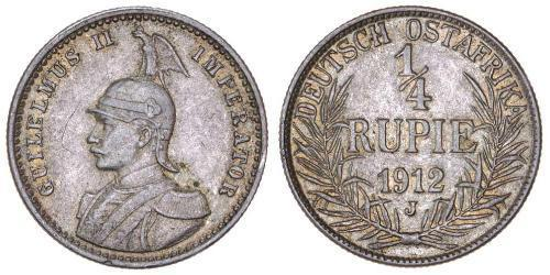 1/4 Rupee África Oriental Alemana (1885-1919) Plata