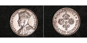 1/4 Rupee Mauritius Silber