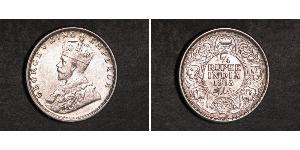 1/4 Rupee British Raj (1858-1947) Silver George V of the United Kingdom (1865-1936)
