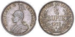 1/4 Rupee German East Africa (1885-1919) Silver
