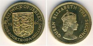 1/4 Shilling Jersey Messing/Nickel Elizabeth II (1926-)