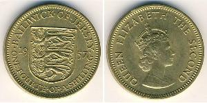 1/4 Shilling Jersey Messing/Nickel Elizabeth II (1926-)
