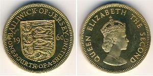 1/4 Shilling Jersey Níquel/Latón Isabel II (1926-)
