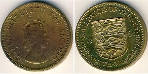 1/4 Shilling Jersey Brass/Nickel Elizabeth II (1926-)