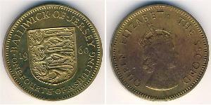 1/4 Shilling Jersey Nickel/Laiton Elizabeth II (1926-)