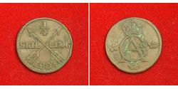 1/4 Skilling 瑞典 銅 Gustav IV Adolf of Sweden (1778 - 1837)
