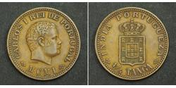 1/4 Tanga Portuguese India (1510-1961) Copper Carlos I of Portugal (1863-1908)