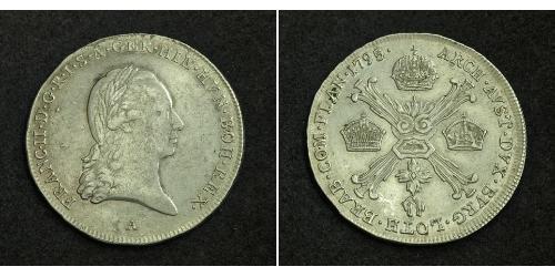 1/4 Thaler 神圣罗马帝国 (962 - 1806) 銀 弗朗茨二世 (神圣罗马帝国) (1768 - 1835)