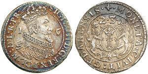 1/4 Thaler Polish-Lithuanian Commonwealth (1569-1795) / Gdansk  (1454-1793) 銀 Sigismund III of Poland