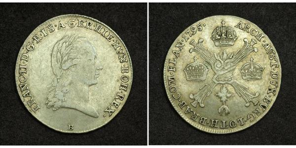 1/4 Thaler Sacro Romano Impero (962-1806) Argento Francis II, Holy Roman Emperor (1768 - 1835)
