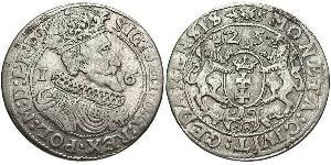 1/4 Thaler Gdansk (1454-1793) / República de las Dos Naciones (1569-1795) Plata Sigismund III