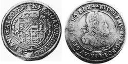 1/4 Thaler Alsace Silver Rudolf II, Holy Roman Emperor (1552 - 1612)